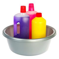 Bottles cleaning liquids