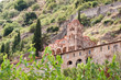 Church in Greek Byzantine town Mystras