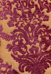 velvet interior with floral pattern