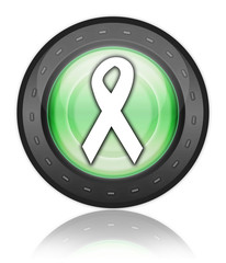 "Green Industrial Style Icon ""Awareness Ribbon"""