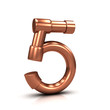 3d Copper tubing number - 5