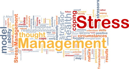 Stress management background concept
