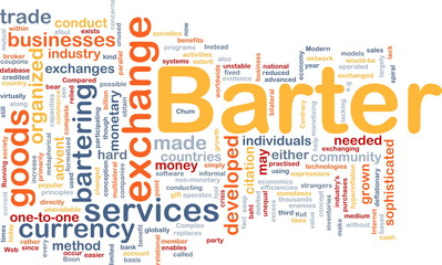 Barter background concept