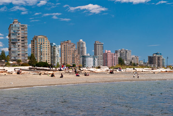 A view of sunny West Vancouver beach.