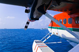 Fototapety Seaplane at Maldives