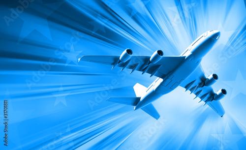 Photo sur Plexiglas Avion à Moteur airplane