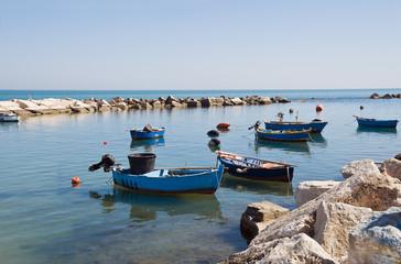 Panoramic view of Molfetta. Apulia.