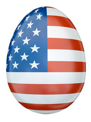 US flag Easter egg