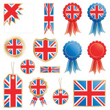 great britain flags and rosettes