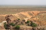 Widok z płaskowyżu Bandiagara