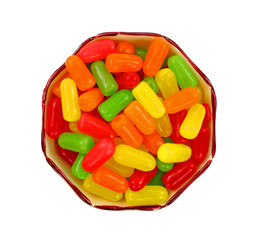 Overhead View Sweet Chewy Candy