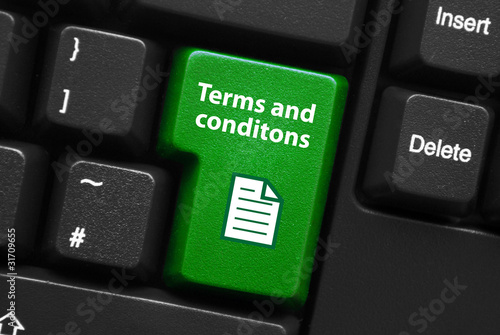 TERMS AND CONDITIONS Key on Keyboard (sale contract web button)