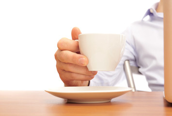 businessman with a cup of tea