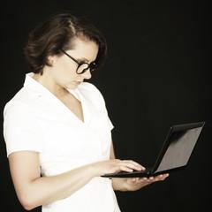 Geschäftsfrau online
