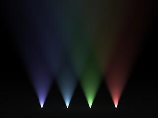 Luci colorate verso l'alto