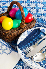 Still life with easter eggs