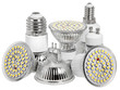LED energiesparlampen incl. clipping path