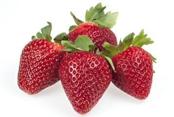 Erdbeeren, Makro, Isoliert