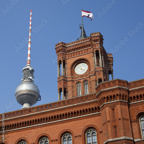 Berlin Rathaus and TV Tower