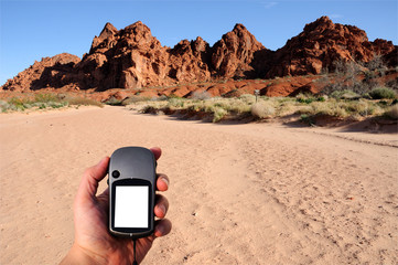 Hiking through Valley of Fire with GPS