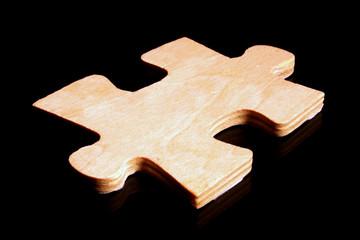 Wood Puzzle Piece