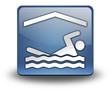 "3D Effect Icon ""Indoor Swimming"""