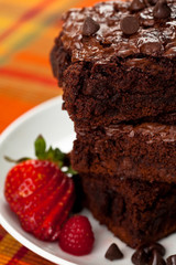 Chocolate Brownie Stack