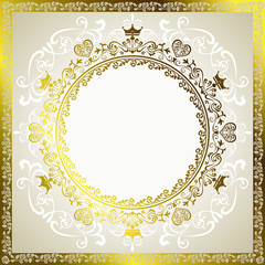 Abstract luxury frame