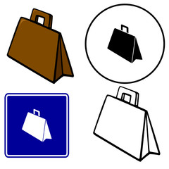 briefcase illustration sign and symbol
