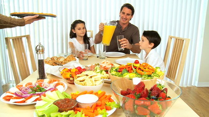 Healthy Family Eating Together