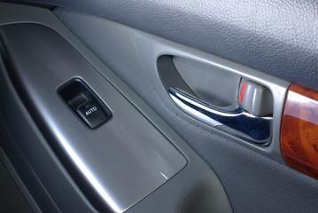 Car door handle with window control