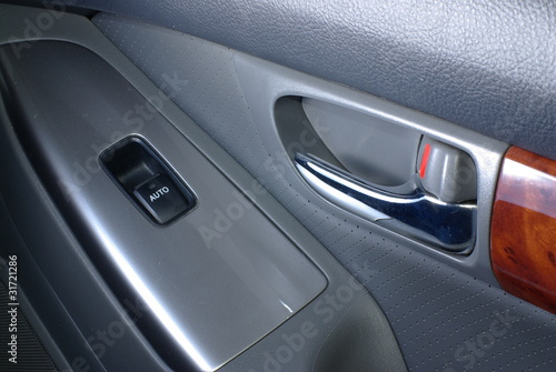 Car door handle with window control