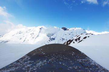 snowboard on mountains