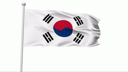 Fahne Südkorea
