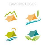 Fototapety Camping Logos # Vector