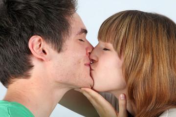 Kuss auf den Mund