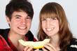 Eine Scheibe Melone für zwei