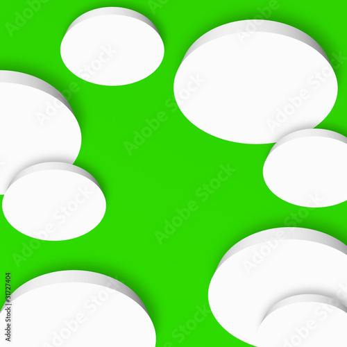 3d boards blank -  light green background