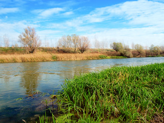 lowland river in autumn