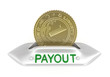 Payout concept icon, isolated on white
