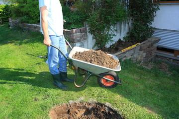 Gartenarbeit / Teichbau