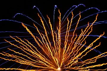 花火 放射状 半円形 扇形
