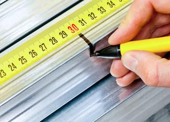 Steel stud measuring