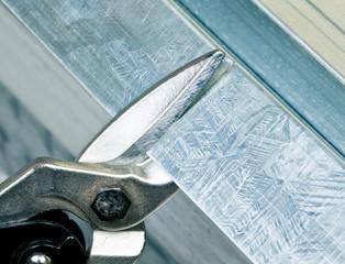 Metal stud cutting