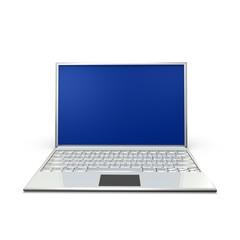 Silberner Laptop