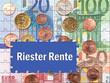 Riester Rente - Konzept Vorsorge im Alter