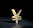 Yen symbol gold