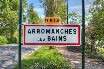 Arromanches Les Bains - Panneau de commune
