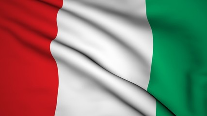 The background of the flag of Italy video
