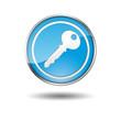 Boton azul borde metalico llave